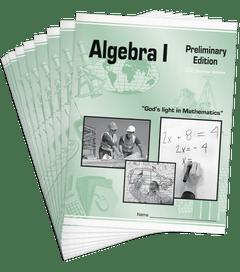Math Units Set • Algebra I (Preliminary Edition)