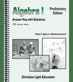 ALGEBRA I - Solution Key