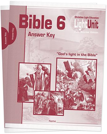 (SE) Bible 601-610 Answer Key Set