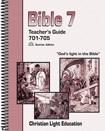 (SE) Bible 701-705 Teacher Guide (with answers)