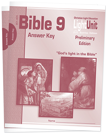 (SE) Bible 901-910 Answer Key Set • Christ in The Old Testament (Preliminary Edition)
