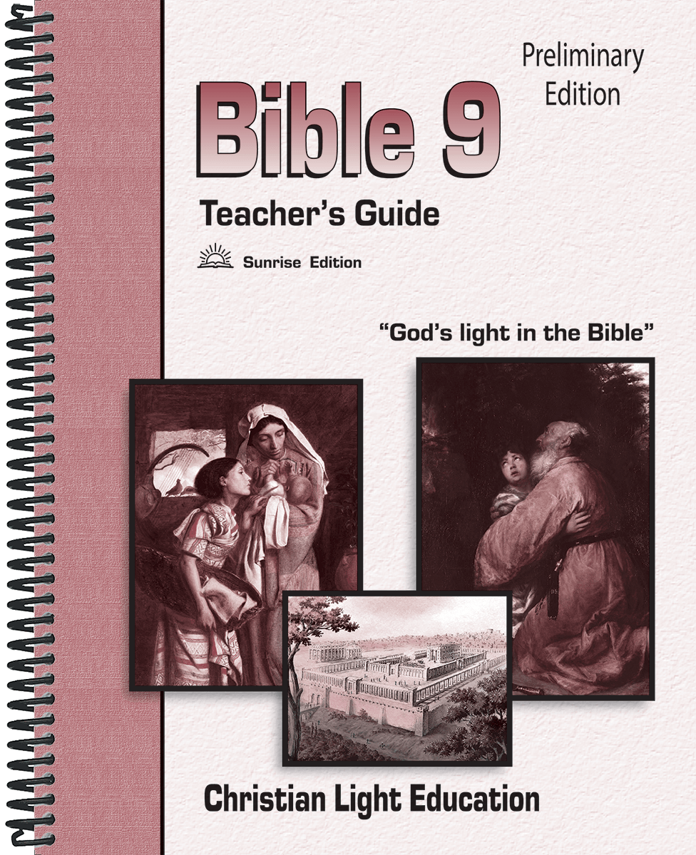 (SE) Bible 9 Teacher's Guide (without answers)
