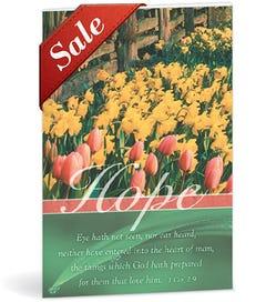 Church Bulletin - Tulips & Daffodils (Funeral)