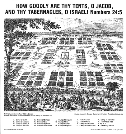 Camp of Israel Map
