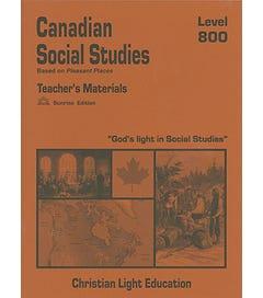 (SE) Canadian Social Studies 800 - Teacher's Guide