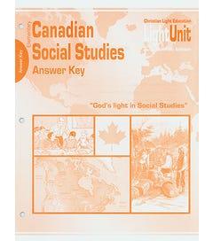 (SE) Canadian Elementary Social Studies Answer Key