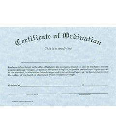 Bishop Ordination Certificate