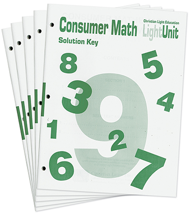 Consumer Math1-10 Answer Key Set