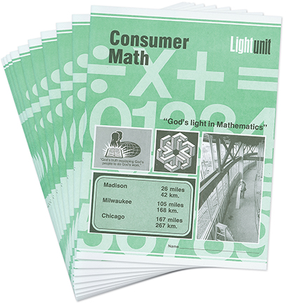 Consumer Math 1-10 Lightunit Set