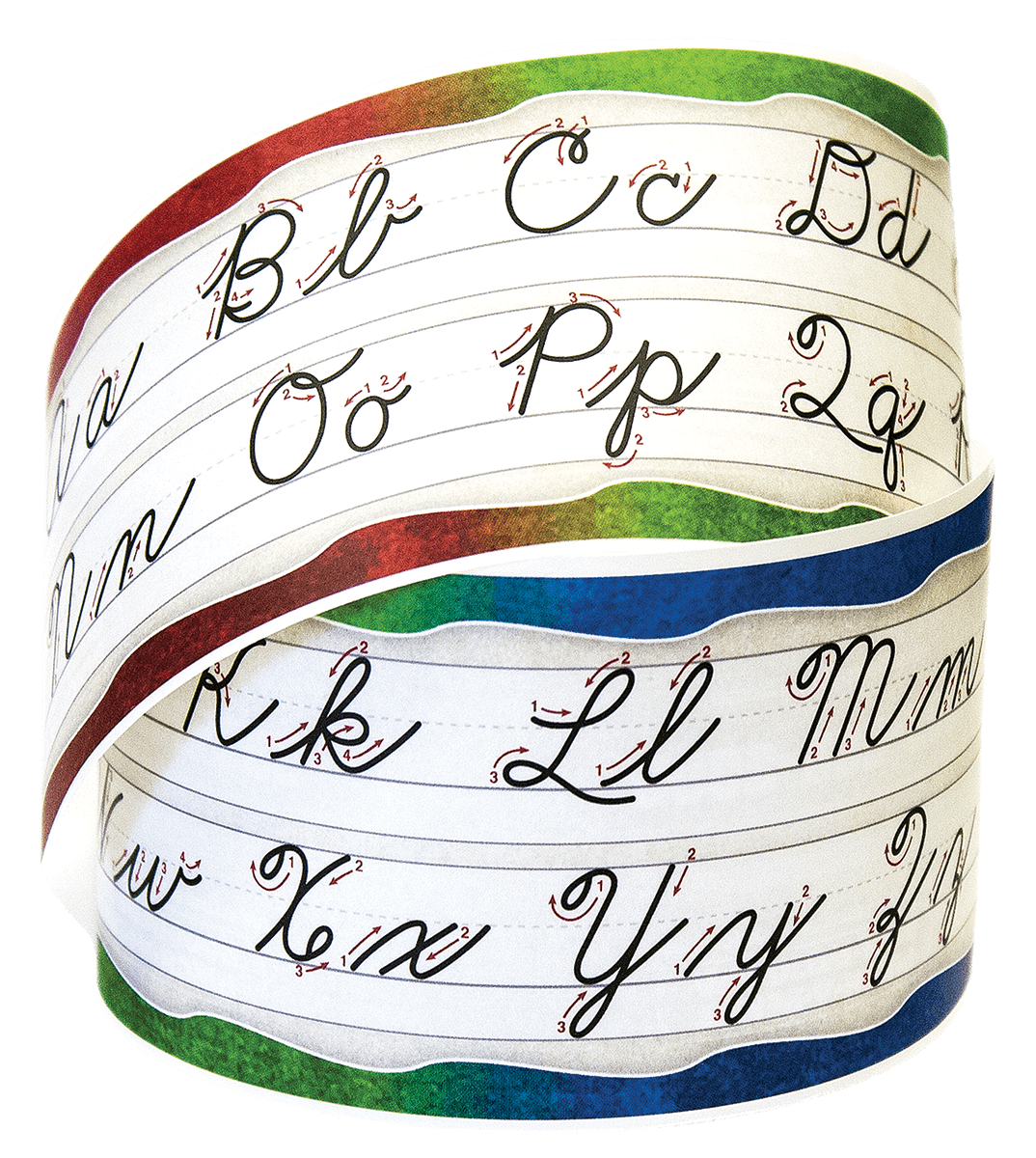 Alphabet Desk Strips - Cursive - Roll of 25