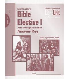 Bible Elective I - Units 1-5 Answer Key