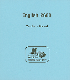 English 2600 - Teacher's Manual
