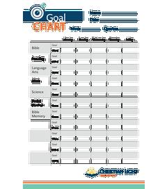 GOAL CHART - Pack of 50