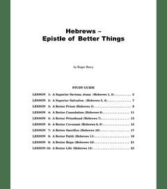 Book of Hebrews - Study Guide
