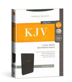 Giant Print Reference Bible - Black Bonded Leather - KJV