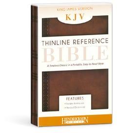 Thinline Reference Bible - Chestnut Brown - KJV