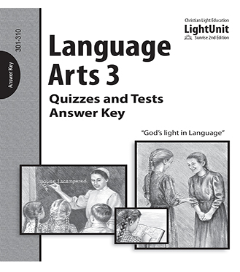 (SE2) Language Arts 301-310 Quiz and Test - Answer Key