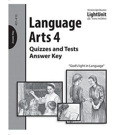(SE2) Language Arts 401-410 Quiz & Test - Answer Key