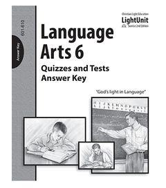 (SE2) Language Arts 601-610 - Quiz and Test - Answer Key