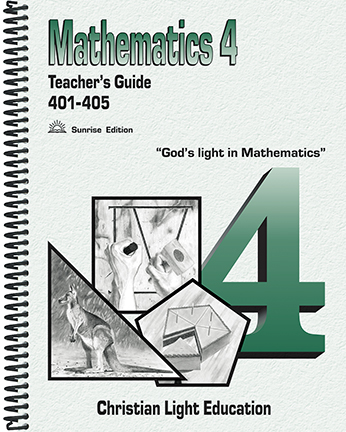 Math 401-405 - Teacher's Guide (with answers)