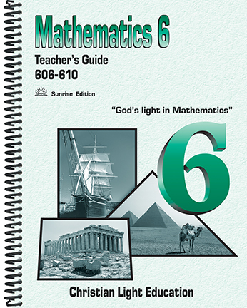 Math 606-610 - Teacher's Guide (with answers)
