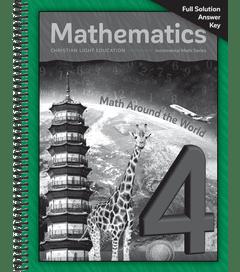 Mathematics 4 - Solution Key
