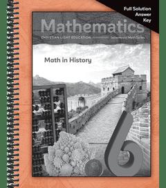 Mathematics 6 - Solutions Answer Key