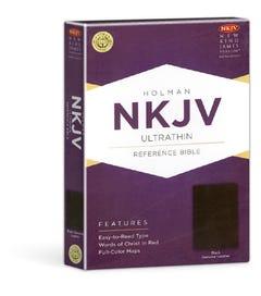 UltraThin Reference Bible - Black Genuine Leather - NKJV
