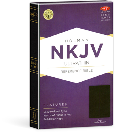 UltraThin Reference Bible - Black LeatherTouch - NKJV
