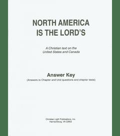 NORTH AMERICA ANSWER KEY