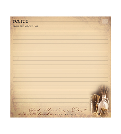 Recipe Cards 6 x 6 (two recipes) - Pack of 25 - Simply Organized