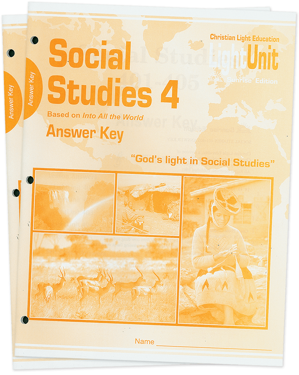 (SE) Social Studies 401-410 Answer Key Set