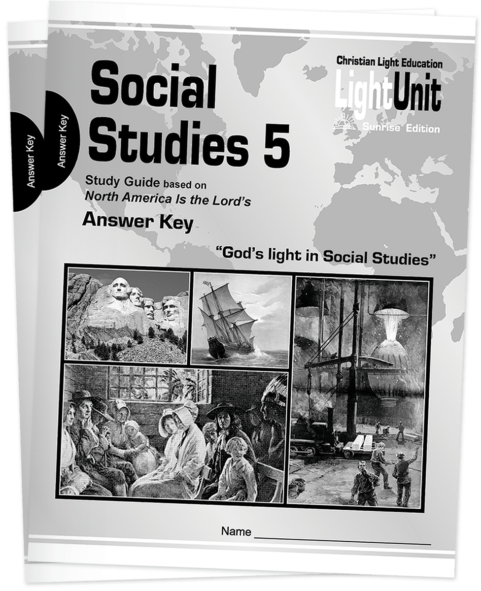 (SE) Social Studies 501-509 Answer Key Set