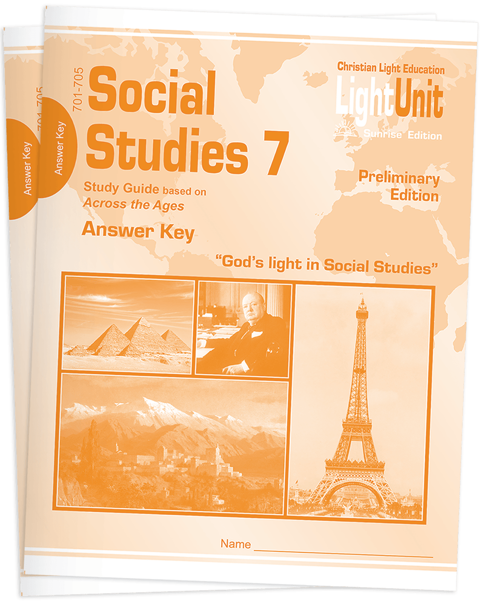 (SE) Social Studies 701-710 Answer Key Set